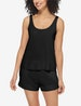 Women's Second Skin Sleep Tank, Lace Trim Image