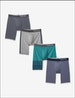 Cool Cotton Navy Stripe Boxer Brief 4 Pack Image