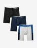 Cool Cotton TJ Blue Colorblock Boxer Brief 3 Pack