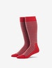 Red & Grey Stripe Stay-Up Dress Sock