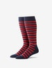 Multi Stripe Stay-Up Dress Sock