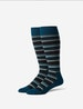 Variegated Stripe Stay Up Dress Sock