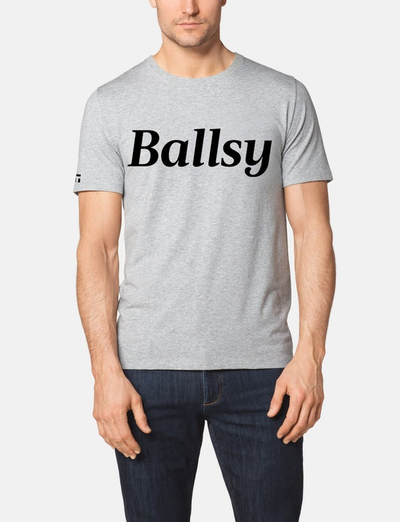 Second Skin Crew Neck Graphic Tee, Ballsy Large Logo