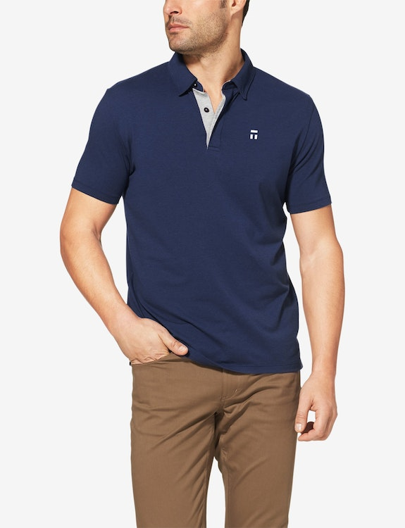 Second Skin Graphic Comfort Polo, Invisible T