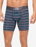 Second Skin Mid-Length Boxer Brief, Stripe Image