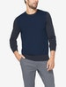 Second Skin Crew Neck Knit Sweater, Colorblock