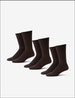 Men's Go Anywhere® Sock 3 Pack, Chocolate Brown