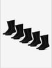 Men's Go Anywhere® Sock 5 Pack, Black