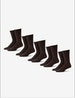 Men's Go Anywhere® Sock 5 Pack, Chocolate Brown