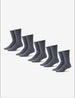 Men's Go Anywhere® Sock 5 Pack, Turbulence