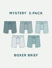 Men's Second Skin Boxer Brief Mystery 5 Pack Image
