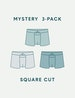 Men's Square Cut Mystery 3 Pack Image