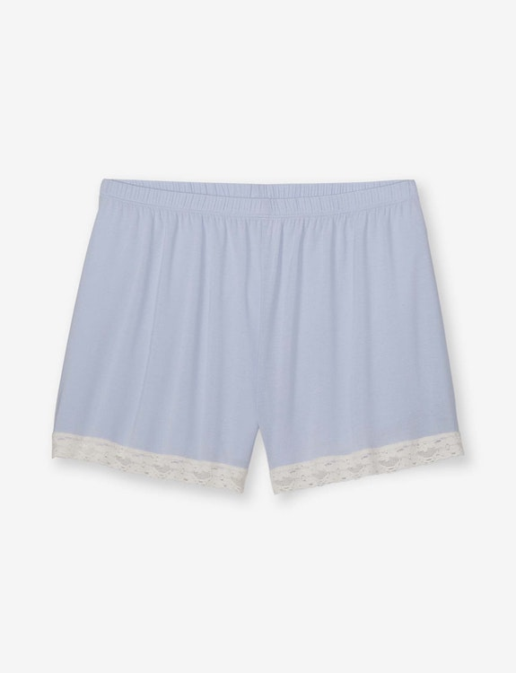 Women's Second Skin Lace Trim Sleep Short