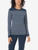 Women's Second Skin Long Sleeve Tee, Stripe Image