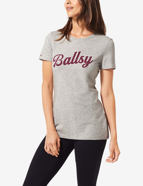 Women's Second Skin Graphic Tee, Ballsy Large Logo