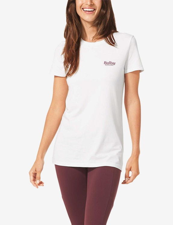 Women's Second Skin Graphic Tee, Ballsy Small Logo
