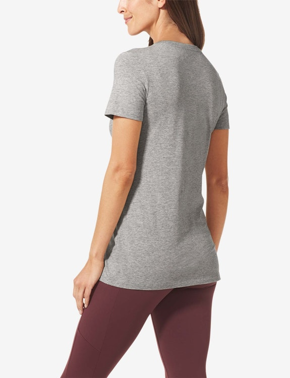 Women's Second Skin Graphic Tee, Peachy Small Logo