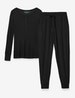 Women's Black Jogger Lounge Set Image